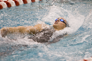 Andy Hodgson of Florida State swims to an ACC record 1:41.14 in the 200 backstroke.