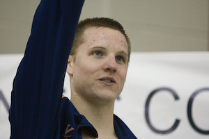 University of Virginia's Scot Robison captured the 100 freestyle in 43.14.