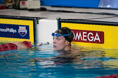 Amanda Weir takes second in the 100 free at the 2009 ConocoPhillips USA National Swimming Championships and World Championship Trials