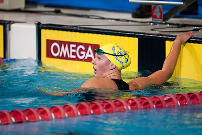 Chloe Sutton of Mission Viejo takes first in the 800 free at the 2009 ConocoPhillips USA National Swimming Championships and World Championship Trials
