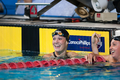 Keri Hehn of Trojan Swim Club punches her ticket to the FINA World Swimming Championships with a second place finish in the 200 breaststroke at the 2009 ConocoPhillips USA National Swimming Championships and World Championship Trials