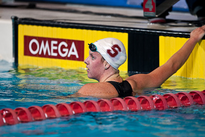 Julia Smit of Stanford takes second place in the 400 IM at the 2009 ConocoPhillips USA National Swimming Championships and World Championship Trials